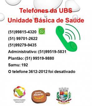 TELEFONES DA UBS